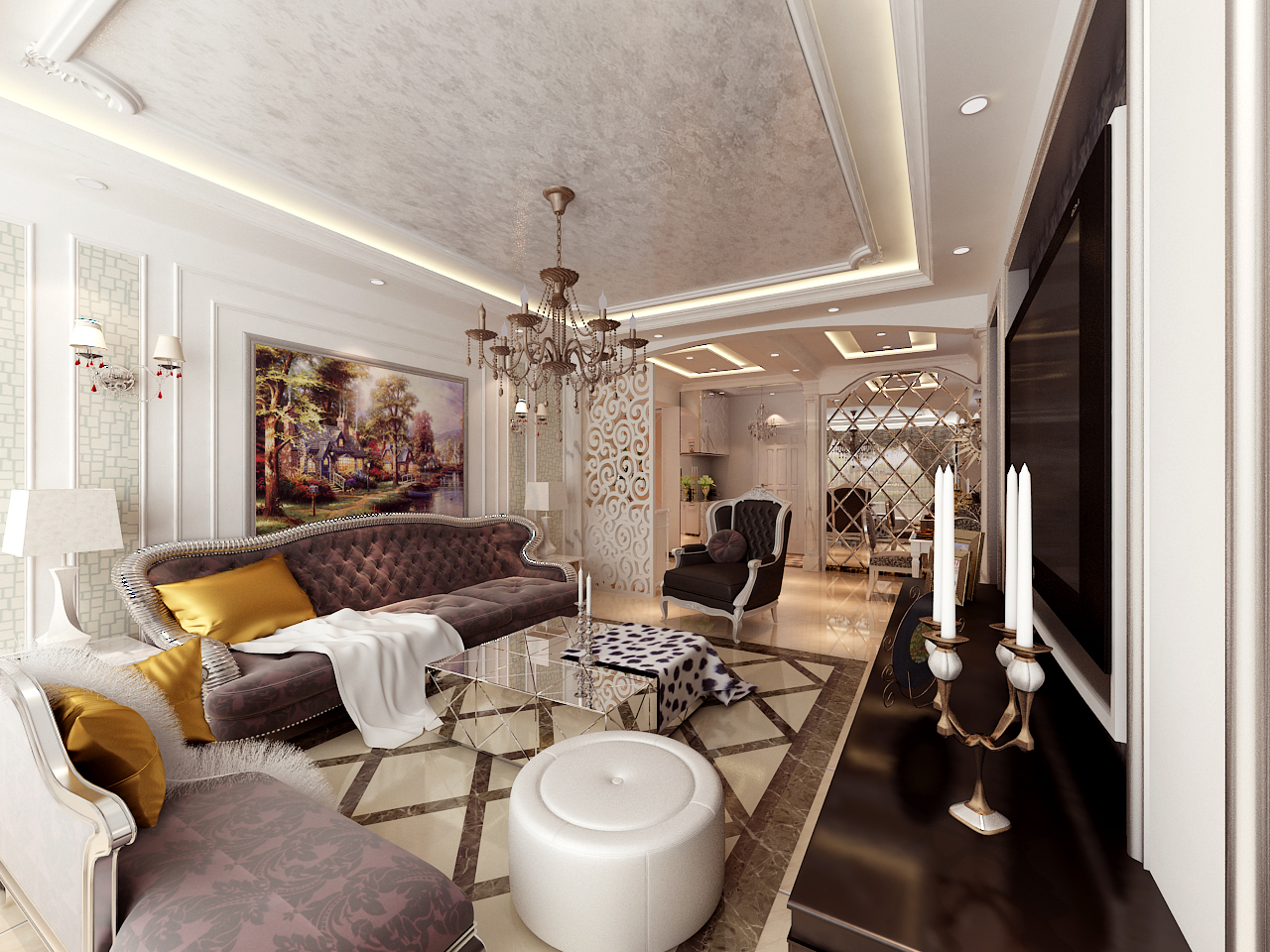 三居 白领 80后 小资 混搭 欧式 客厅图片来自晋级装饰小金在瑞士风情小镇赏析的分享
