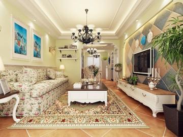 丰泽新苑91平美式经典装修设计
