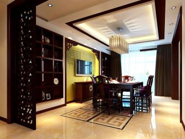 中原桂冠300平中式古典装修风格