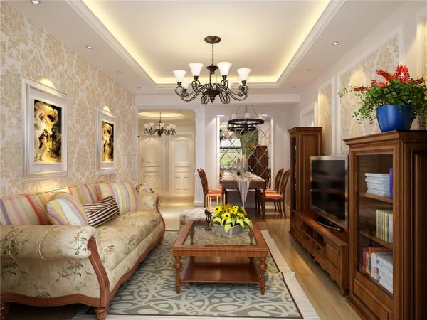 此案是简约欧式风格装修,主要从一下几方面体现。白色的欧式造型门,壁纸的处理,配有欧式石膏线,再加上家具和软装的烘托,高贵而典雅的欧式风格体现出来。