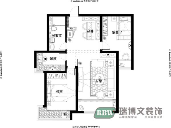 户型优点:典型经典两室户型,客餐厅通透宽敞,卧室分布合理,整个户型的采光效果非常好。户型缺点:没有阳台,进门正对主卧室门口。