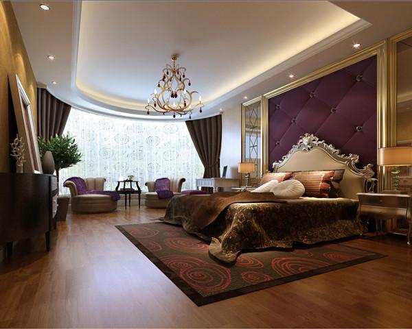 天润福熙大道169平米三居简欧风格装饰案例——卧室