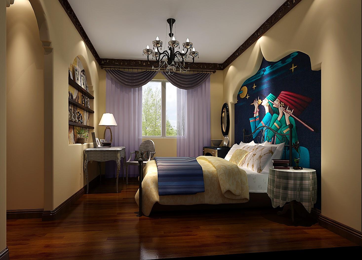 混搭 三居 白领 80后 白富美 时尚 高度国际 远洋一方 简约 卧室图片来自北京高度国际装饰设计在远洋一方127平混搭风的分享
