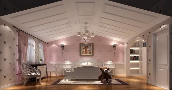 业主的的孩子是个闺女,所以他女儿的房间主要采用粉红色做基调