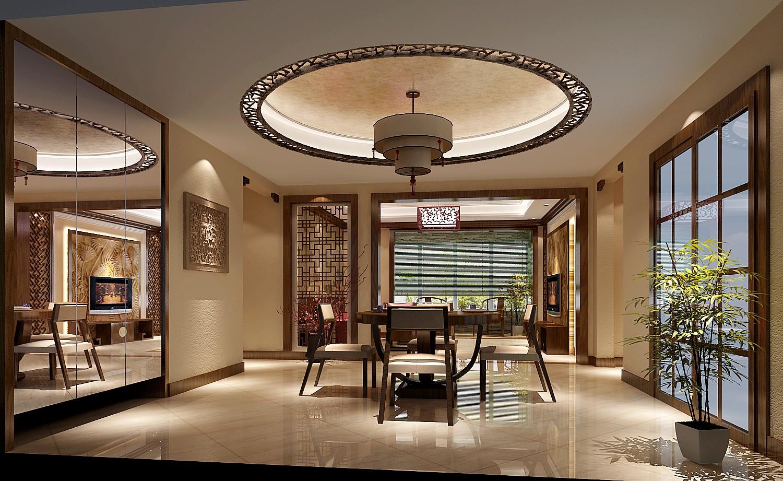 简约 美式 高度国际 时尚 白富美 跃层 白领 别墅 80后 餐厅图片来自北京高度国际装饰设计在中景江山赋美式跃层的分享