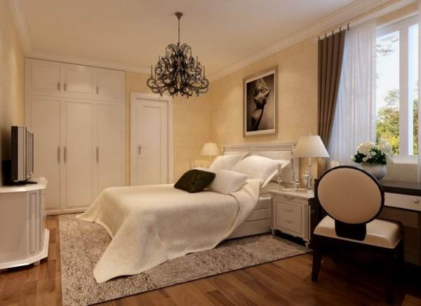 卧室古典风格追求华丽、高雅,具有很强的西方文化韵味和历史内涵。