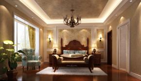 简约 美式 高度国际 时尚 白富美 跃层 白领 别墅 80后 卧室图片来自北京高度国际装饰设计在中景江山赋美式跃层的分享