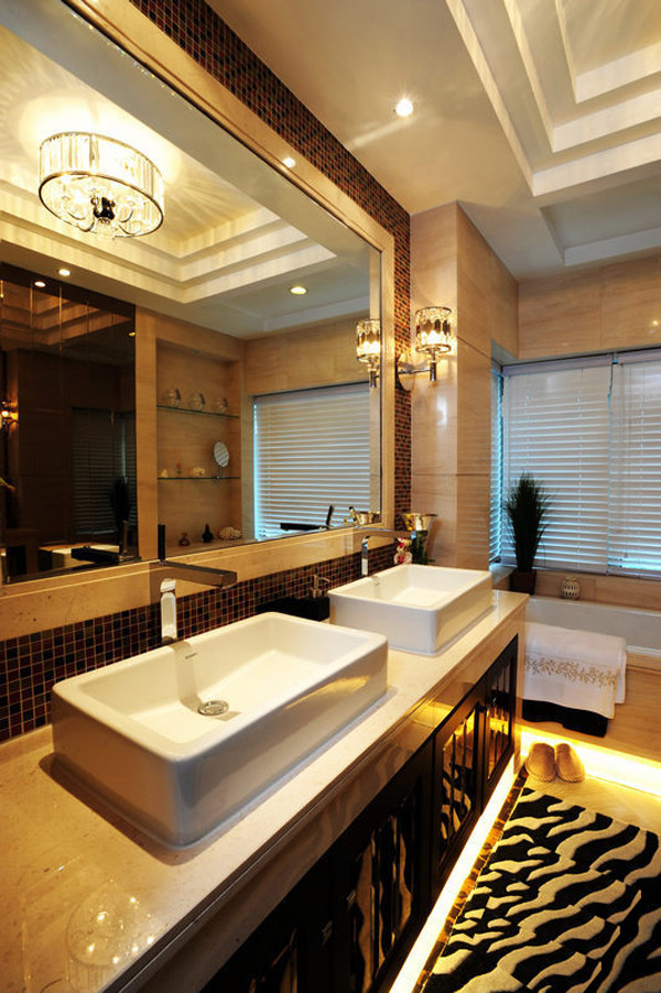 天润福熙大道169平米三居简欧风格装饰案例——卫生间