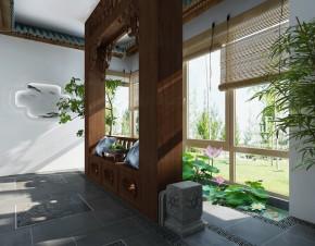 中式 别墅 80后 香山艺墅 尚层装饰 阳台 其他图片来自北京别墅装修案例在与自然融合的宜居之所的分享