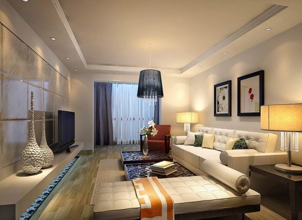 客厅是能让业主回到家中放松心情的首选之处,不需要过多的凌乱点缀,一切简洁舒适就好。