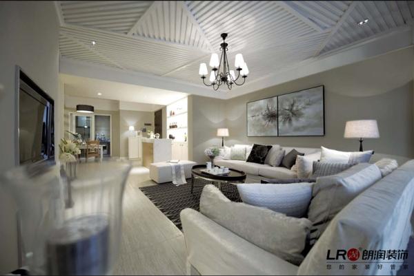 现代客厅沙发细节,色调搭配简洁大方,细节处理细致完美,居家的温馨静谧的感觉都在这里了!