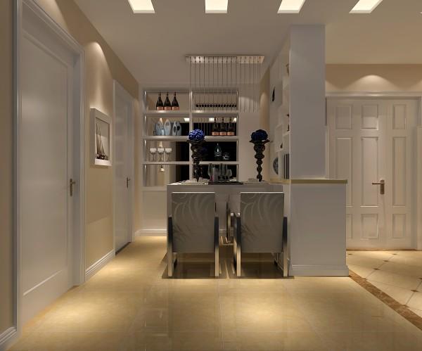 餐厅的设计,温馨浪漫,进门就是餐厅,一看就很有回家的欲望,暖色灯光的调解下,使餐厅看起来更有家的感觉。