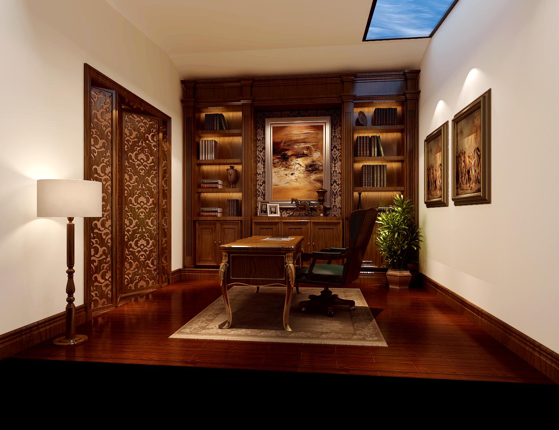 欧式 新古典 高度国际 时尚 白富美 别墅 白领 80后 尚湖世家 书房图片来自北京高度国际装饰设计在中海尚湖世家欧式新古典的分享