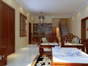 中式 别墅 白领 收纳 80后 小资 楼梯图片来自实创装饰都琳在28万打造秦屯豪华中式小别墅的分享