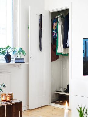 65平 北欧 一居 旧房改造 白领 80后 小资 布艺家纺 衣帽间图片来自居佳祥和装饰在65平北欧清新脱俗装修案例的分享