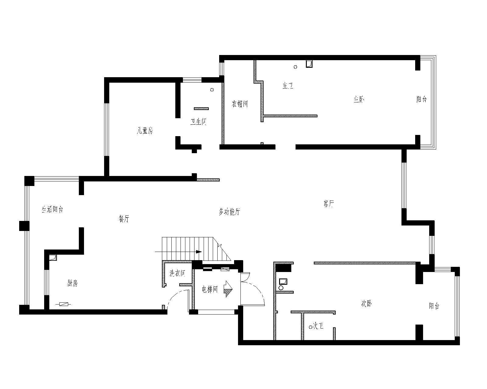 简约 别墅 白领 收纳 80后 小资 户型图图片来自实创装饰百灵在阿凯迪亚庄园170平米简约装修的分享