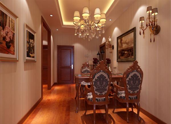 餐厅空间的设计采用了清浅颜色,高档家具,墙面挂画出现,也将增添了整个空间的开阔性,提开着空间的档次。