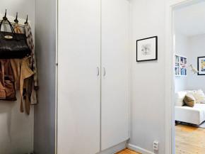 50平 北欧 一居 旧房改造 收纳 小资 衣帽间图片来自居佳祥和装饰在50平淡雅北欧风格装修的分享