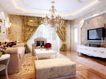 韩式田园风格 舒适奢华3居室