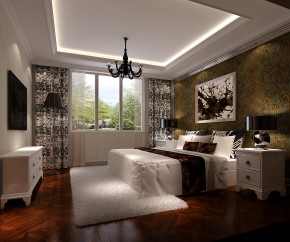 简约 托斯卡纳 高度国际 时尚 白富美 白领 80后 公寓 旭辉御府 卧室图片来自北京高度国际装饰设计在旭辉御府托斯卡纳公寓的分享