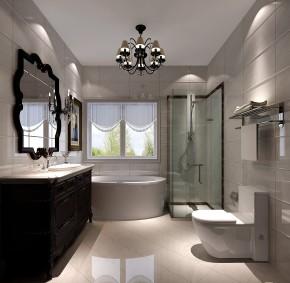 鲁能7号院 高度国际 时尚 白富美 三居 白领 80后 欧式 简约 卫生间图片来自北京高度国际装饰设计在黑白交替的美的分享