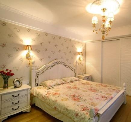 14.2万打造 韩式田园风格 舒适奢华3居室-卧室装修效果图