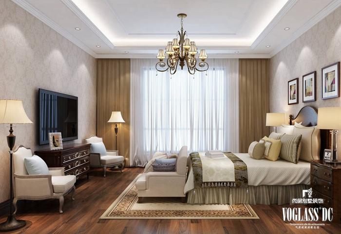 简约 田园 别墅 卧室图片来自尚层别墅装饰在简约美营造精致的家的分享