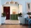 入户花园细节,特别喜欢门头的造型,地中海的浓郁的味道!