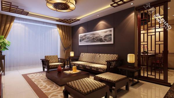 沙发北京墙则以简单为主,一幅装饰画不仅起到了装饰作用,而且与整体风格形成呼应。