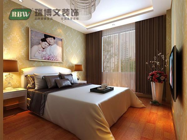 卧室属于私密性空间,介于面积不是很大,所以没有做过多的装饰。
