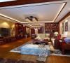 徐汇玺庭123平中式风格设计