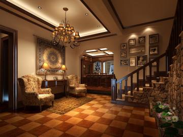 润泽公馆——320平美式休闲别墅