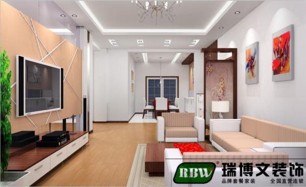 电视墙:使用镜面使空间更动感,同时也使客厅视觉效果更为强烈,整个客厅空间更宽敞明亮。搭配前面造型凌乱的线条,体现风格更具现代气息混搭偏中式的隔断橡木电视柜使整个空间现代但不浮躁,稳重但不沉闷。