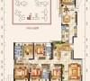 中州中央公园-五室三厅两卫-户型图