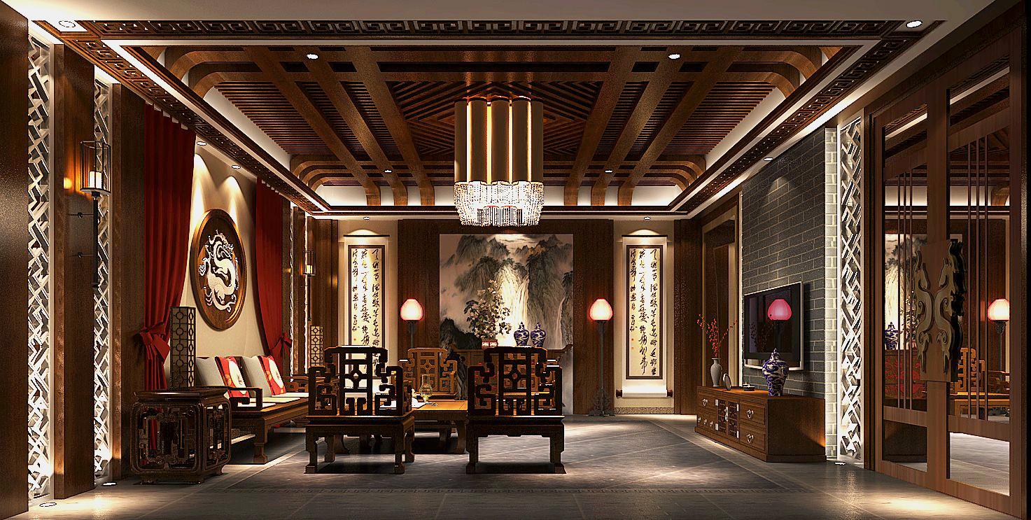 简约 新中式 高度国际 时尚 白富美 四合院 别墅 白领 80后 书房图片来自北京高度国际装饰设计在新中式私人四合院的分享