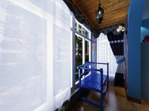 地中海 三居 白领 小资 80后 阳台图片来自冰花-11在【紫晶悦城】114平装修效果图的分享