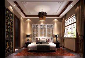 简约 新中式 高度国际 时尚 白富美 四合院 别墅 白领 80后 卧室图片来自北京高度国际装饰设计在新中式私人四合院的分享