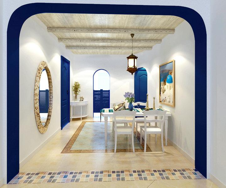 东易日盛 设计 装修 别墅 欧式 餐厅图片来自东易日盛集团深圳分公司在水榭山-地中海风格-别墅设计的分享
