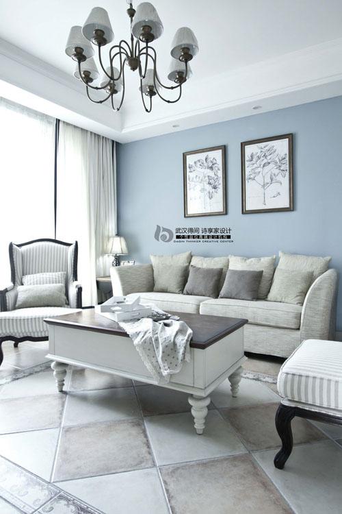 混搭 三居 白领 客厅图片来自得间诗享家设计在巴黎草叶的分享