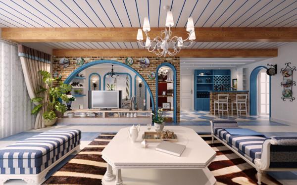 """电视背景墙的设计理念,考虑到客厅采光不理想,大面弧形镂空的设计孕育而生,既  保证了采光和通透性,还增加了客厅的曲线美一举两得。"""""""