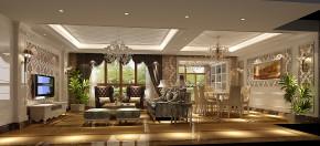 简约 欧式 别墅 白领 80后 白富美 时尚 高度国际 鲁能7号院 客厅图片来自北京高度国际装饰设计在简欧鲁能花园洋房的分享