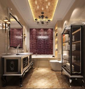 简约 欧式 别墅 白领 80后 白富美 时尚 高度国际 鲁能7号院 卫生间图片来自北京高度国际装饰设计在简欧鲁能花园洋房的分享