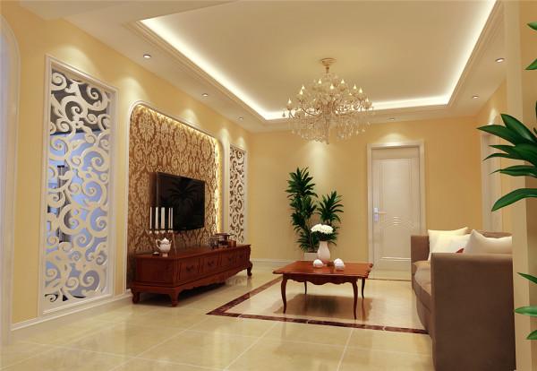 整个空间以浅咖啡色为主色调,配合柔和的灯光,让人感觉家的温暖。客厅的垭口以及白色雕花隔断以亲和通透的美感曲线,营造一个属于我们的幻想花园。