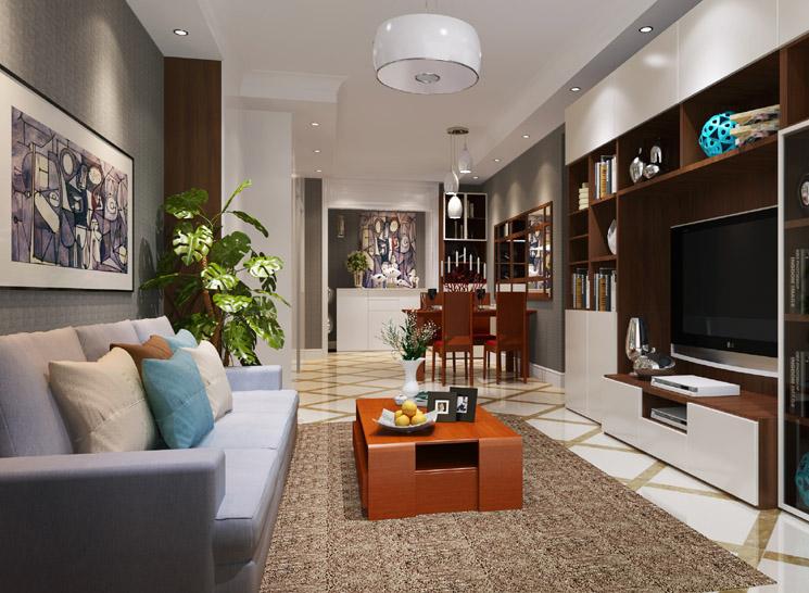 简约 三居 收纳 客厅图片来自博洛尼整体家装Q在华远铭悦世家-现代简约-雪茄记忆的分享