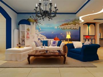 紫晶悦城115平地中海风格