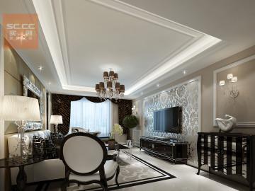 国际城四期装修-三居新古典豪华
