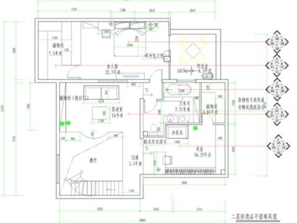 二层平面布局图