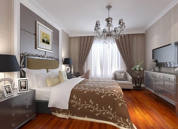 济南实创装饰装修-名泉春晓二期135平米-现代简约风格装修案例效果图-卧室设计