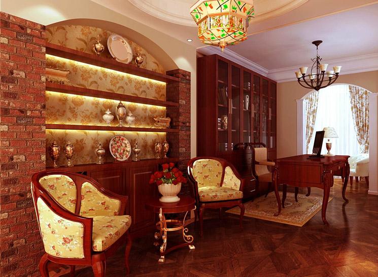 欧式 三居 收纳 书房图片来自博洛尼整体家装Q在奥林佳苑-成功人士-温馨的家的分享