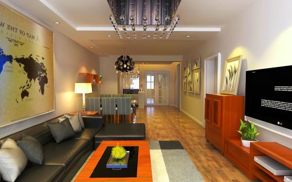 现代简约风格在处理空间方面一般强调室内空间宽敞、内外通透。墙面、地面、顶棚以及家具陈设乃至灯具器皿等均以简洁的造型、纯洁的质地、精细的工艺为其特征。